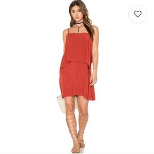 Splendid | Red Overlay Sleeveless summer dress
